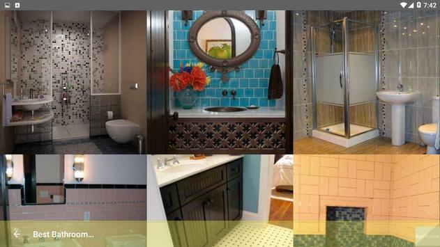 Best Bathroom Tile Designs idea screenshot 7