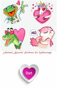 animal Kawaii Stickers for Whatsapp poster