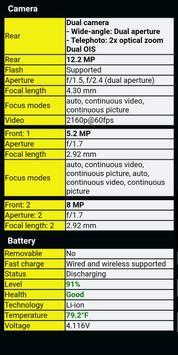 Informations du téléphone capture d'écran 2