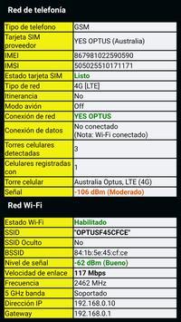 Información del telefóno captura de pantalla 3