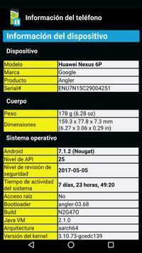 Información del telefóno Poster