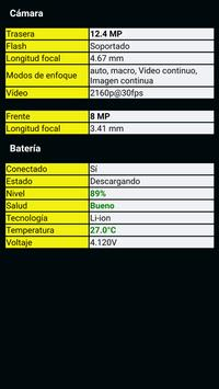 Información del telefóno captura de pantalla 2