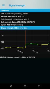 Phone signal information screenshot 1