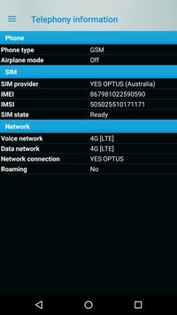 Phone signal information screenshot 2
