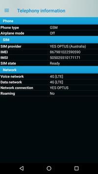 Phone signal information screenshot 3