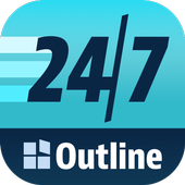 Outline 24/7 icon