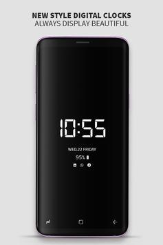 Always on Display photo clock : Super-amoled screenshot 1