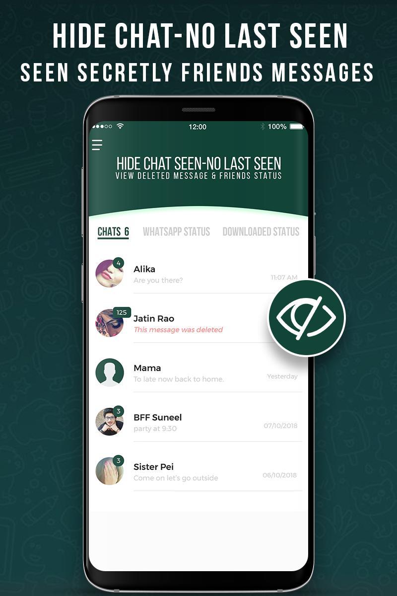Chat Nicht Gesehen Chat Status Für Whatsapp Für Android