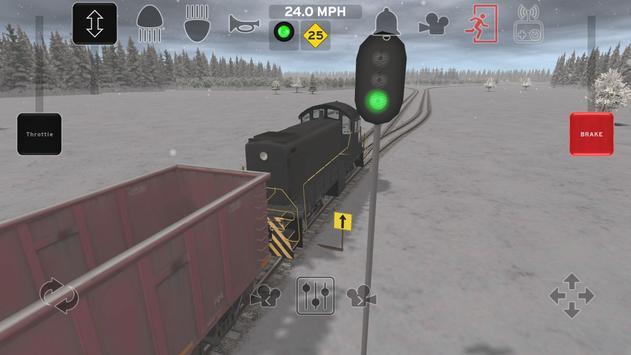 Train and rail yard simulator-poster