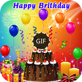 Happy Birthday GIF-icoon