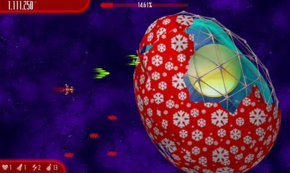 Chicken Invaders 4 Xmas HD captura de pantalla 4
