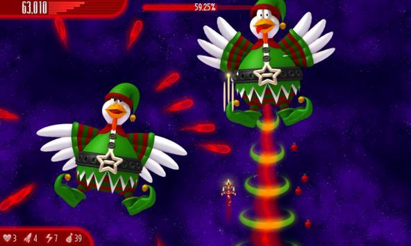 Chicken Invaders 4 Xmas HD capture d'écran 5