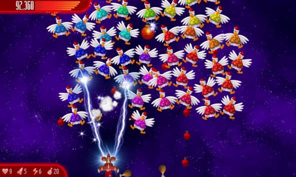 Chicken Invaders 4 Xmas HD captura de pantalla 13