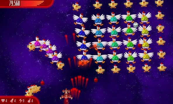 Chicken Invaders 4 Xmas HD captura de pantalla 1