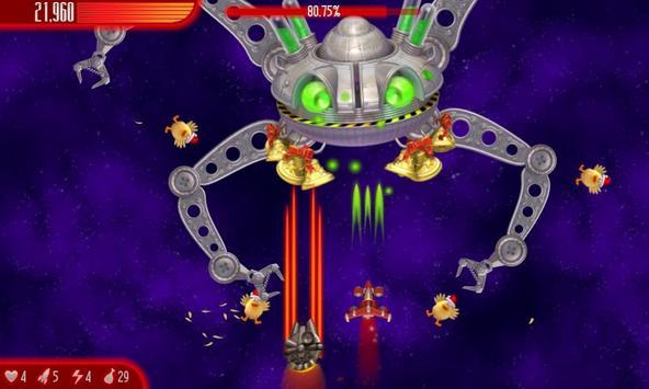 Chicken Invaders 4 Xmas HD captura de pantalla 2
