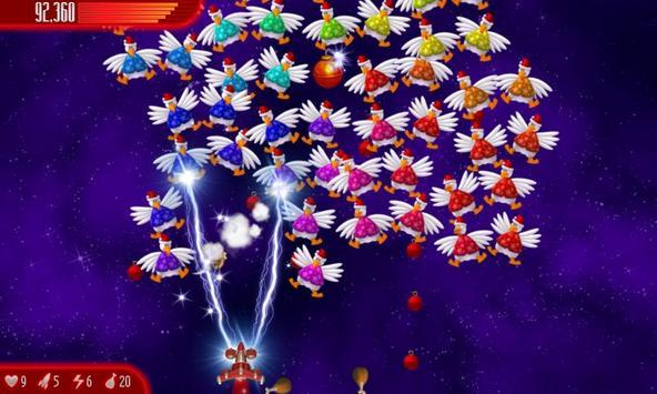Chicken Invaders 4 Xmas HD captura de pantalla 3
