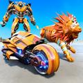 Lion Robot Transform Bike War : Moto Robot Games