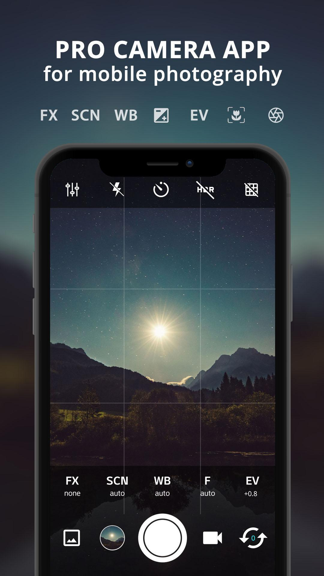ProCam X : HD Camera Pro (Lite version) for Android - APK