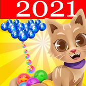 Witch Bubble Shooter Catly: Free Pop Offline Game icon