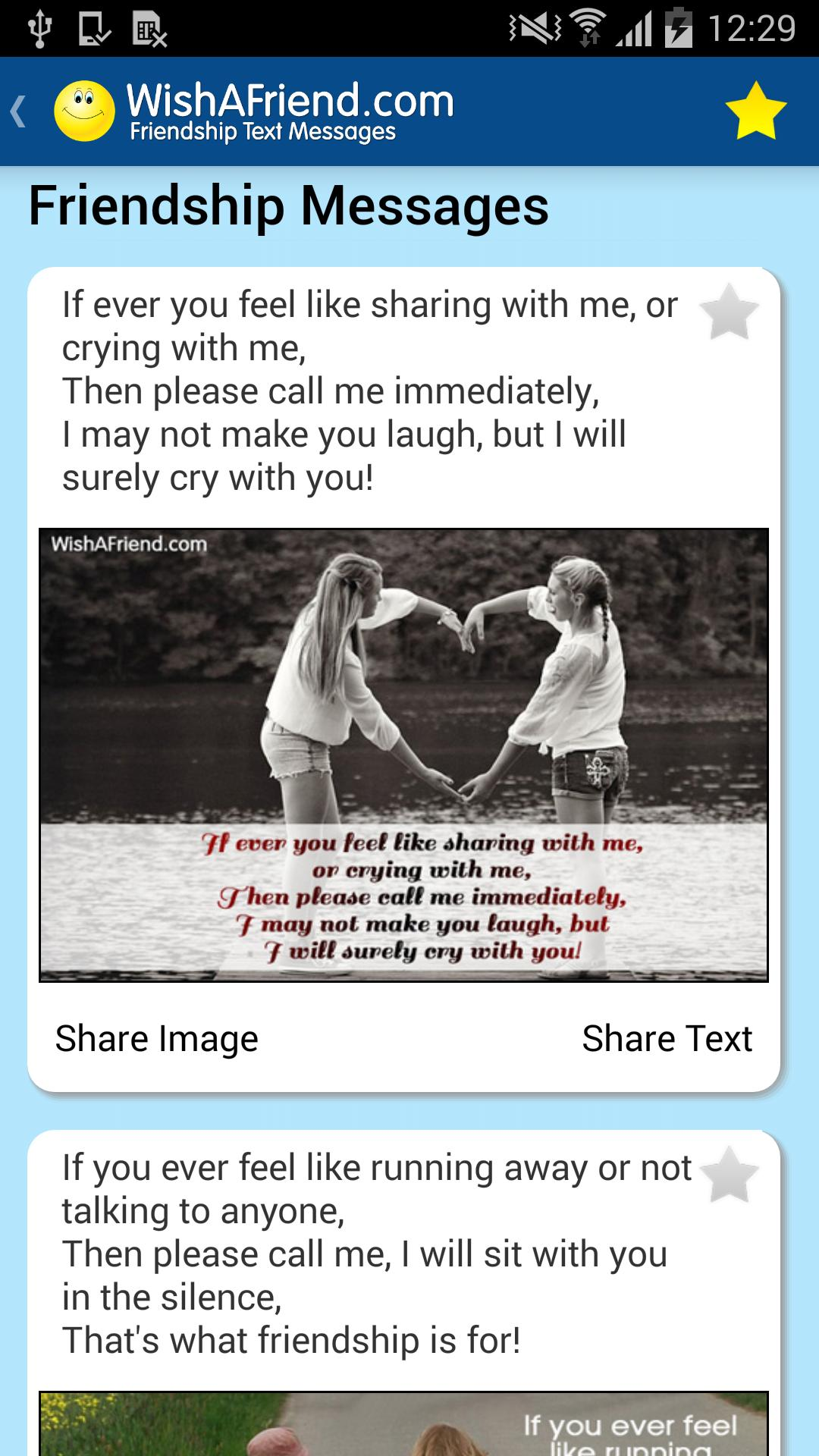 Friendship Quotes & Messages - Pictures For Status for Android - APK