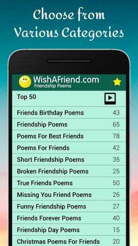 Best poems short friend Best Friend