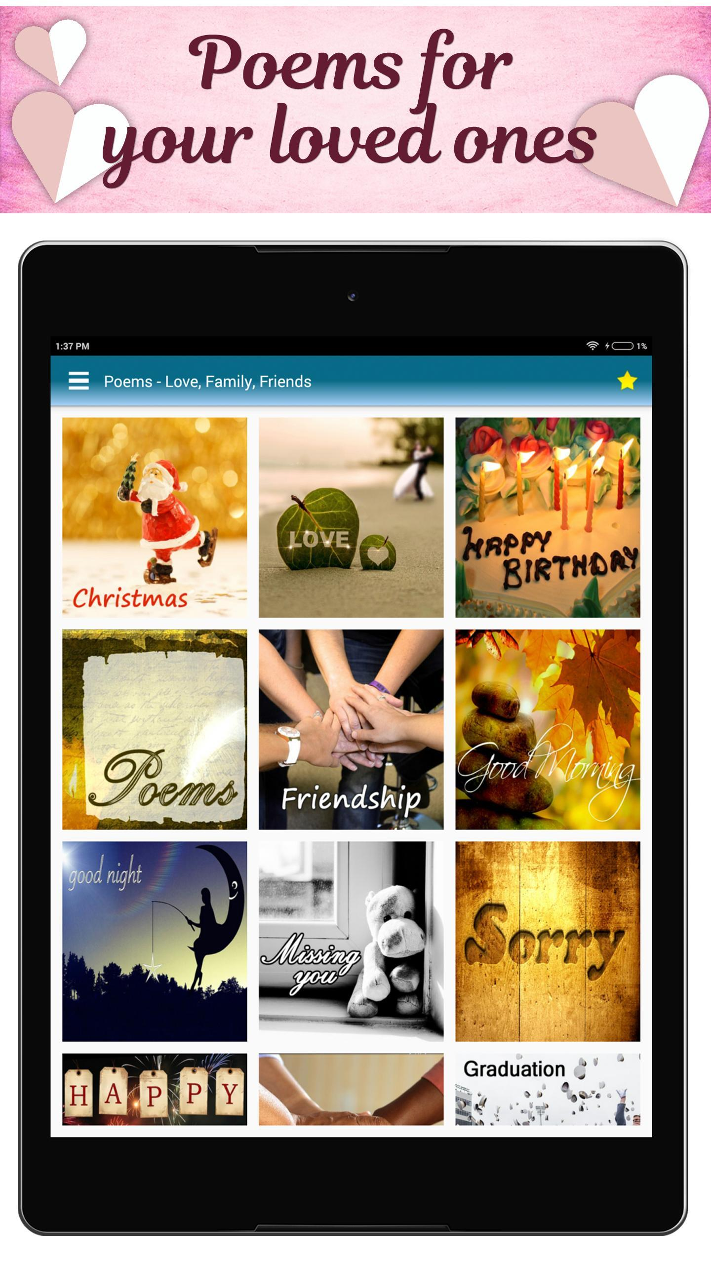 Poems For All Occasions - Love, Family & Friends for Android - APK