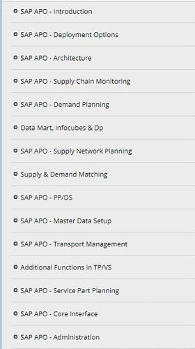 Learn SAP APO - Tutorials for Android - APK Download