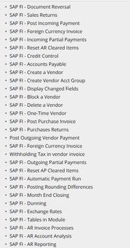 Learn SAP FICO Tutorials screenshot 1