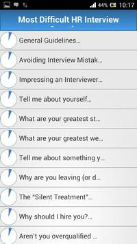Job HR Interview Questions screenshot 4