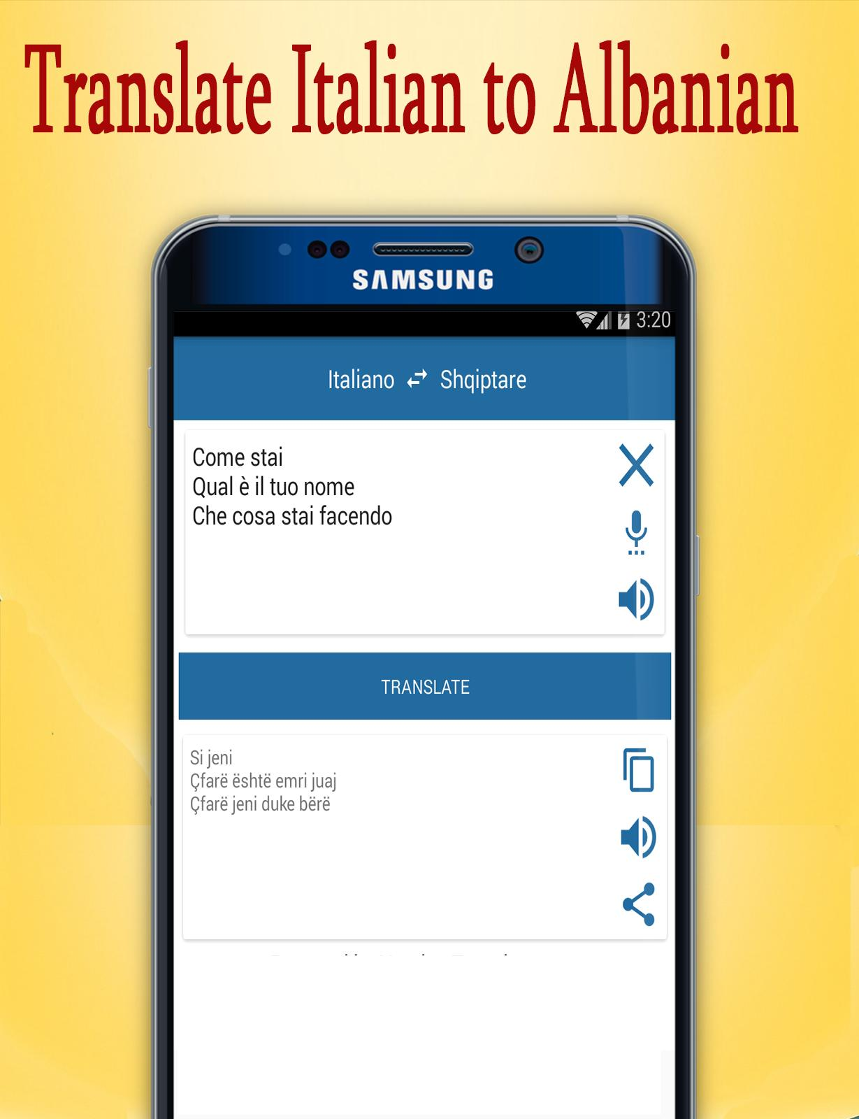 Albanian to Italian Translate for Android - APK Download