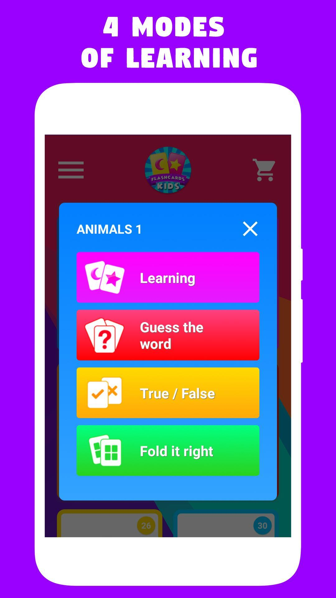 Flashcards for kids - Learn foreign languages! for Android