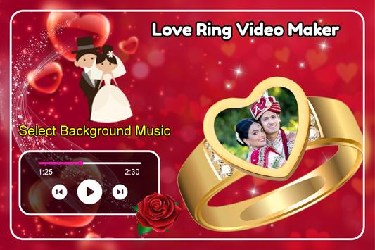 Love Ring Video Maker imagem de tela 1