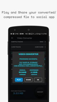 Video Converter, Compressor MP4, 3GP, MKV,MOV, AVI screenshot 6