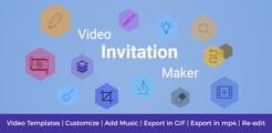 Video Invitation -  Wedding & Birthday Video Maker