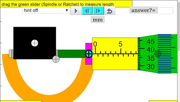 Micrometer Simulator screenshot 1