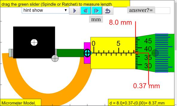 Micrometer Simulator screenshot 2