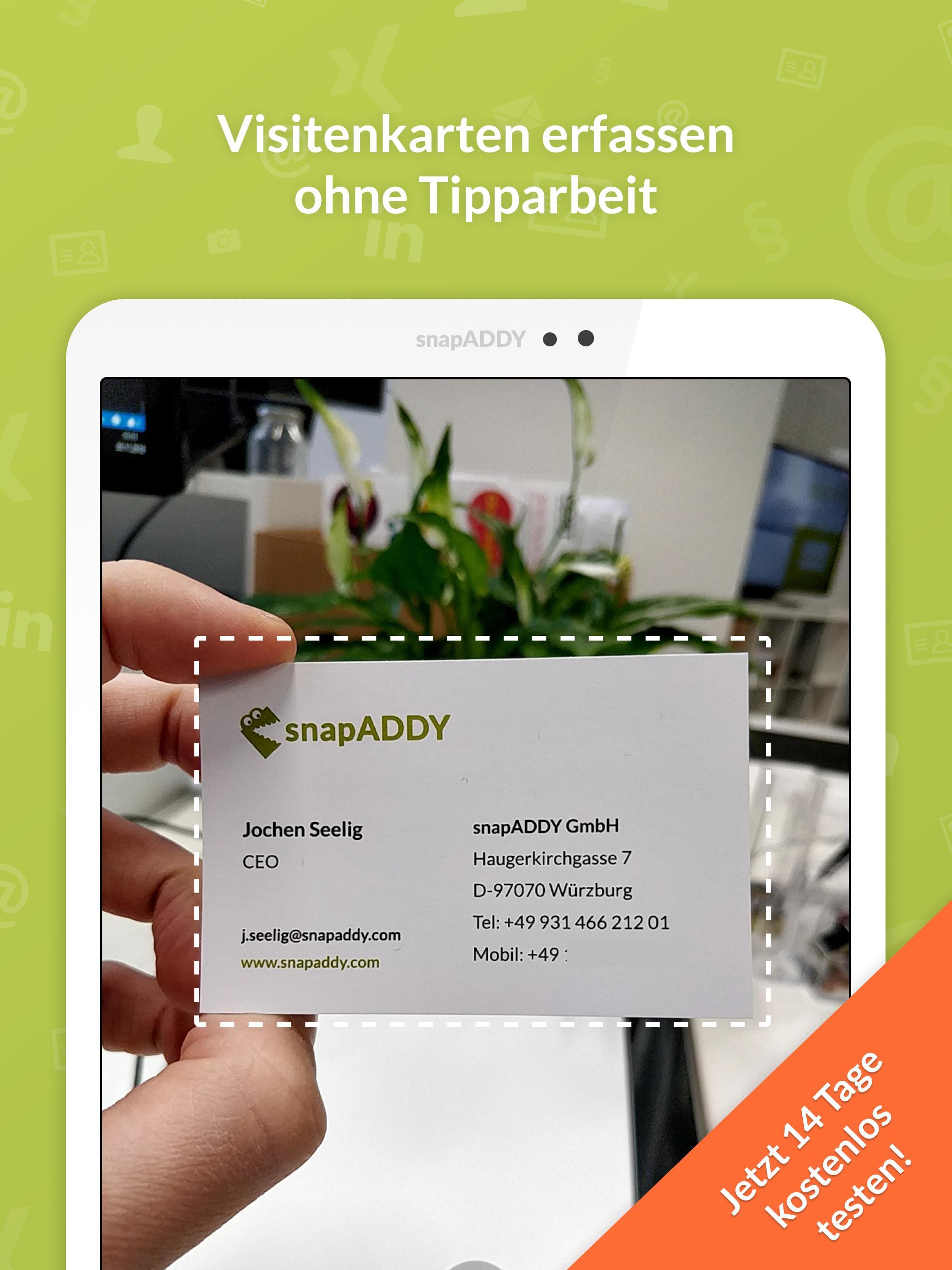 Visitenkartenscanner Für Crm Für Android Apk Herunterladen