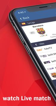 1 Schermata Live Soccer tv - Live Football App
