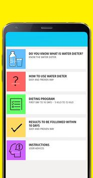 Quick diet water 10 days poster