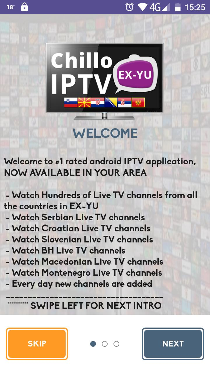 FREE IPTV EX-YU CHILLO for Android - APK Download