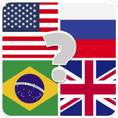 Flags quiz game - guess the flag on the picture icon