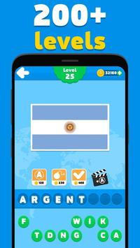 Flags quiz game - guess the flag on the picture screenshot 2