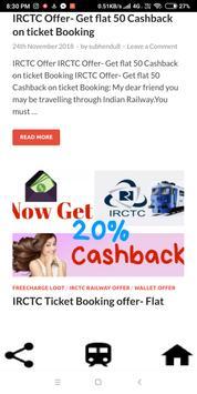IRCTC Train Ticket Offers, Deals, Coupons, Track screenshot 1