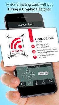 Business Card Maker screenshot 1