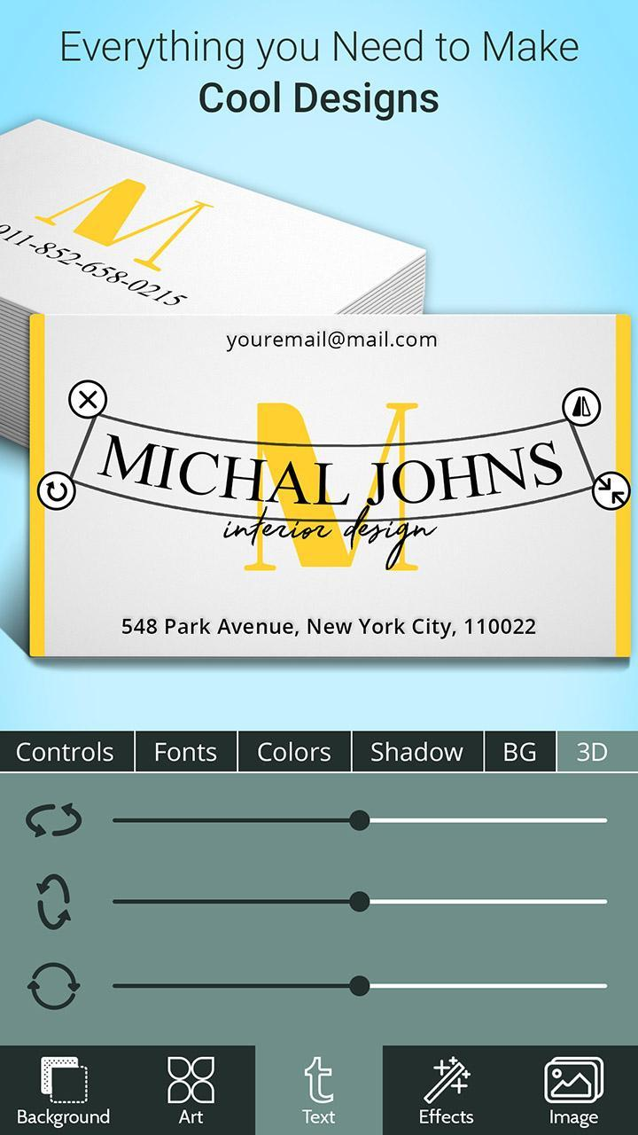 Business Card Maker for Android - APK Download