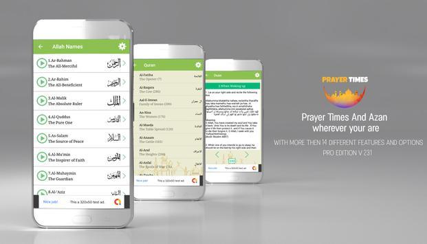 Prayer Times PRO , Auto Azan Reminder screenshot 4