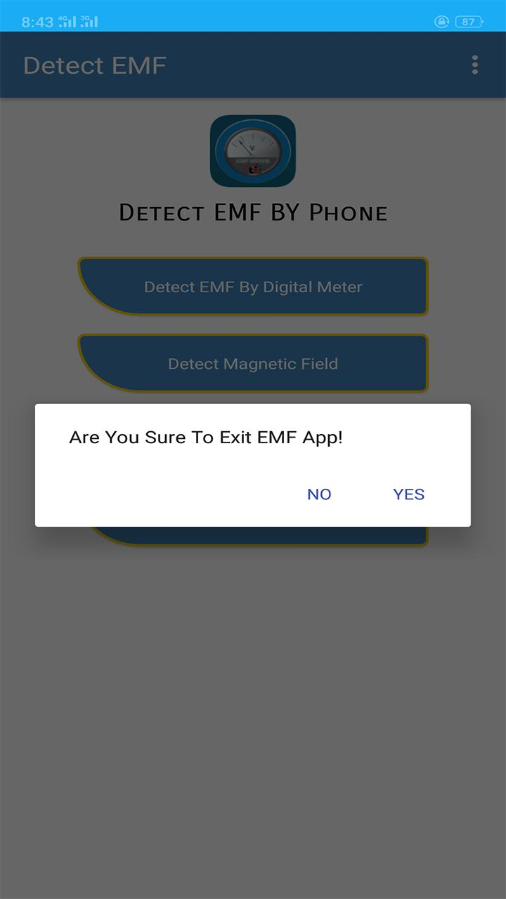 Emf Detector Emf Radiation Magnetic Field Detector for Android - APK