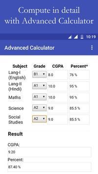 CBSE Result and CGPA Calculator screenshot 3