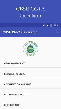 CBSE Result and CGPA Calculator poster