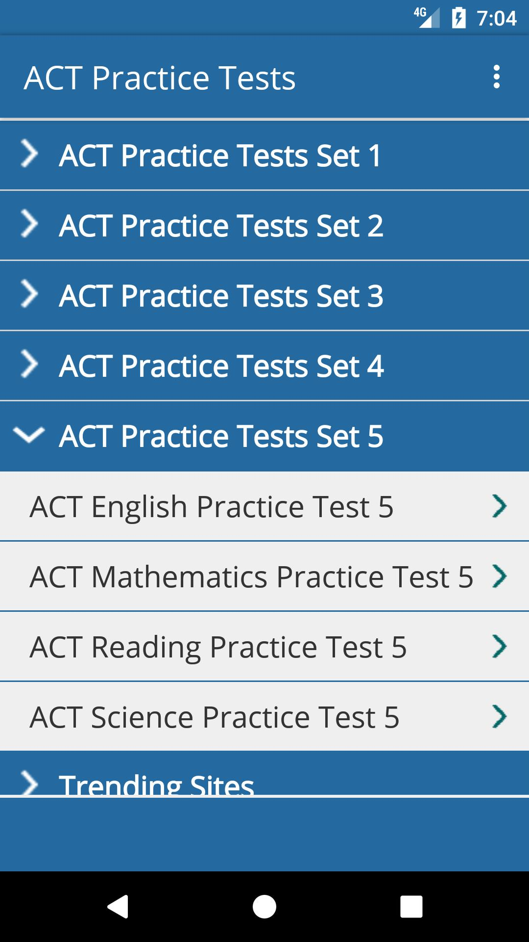 ACT Practice Tests for Android - APK Download